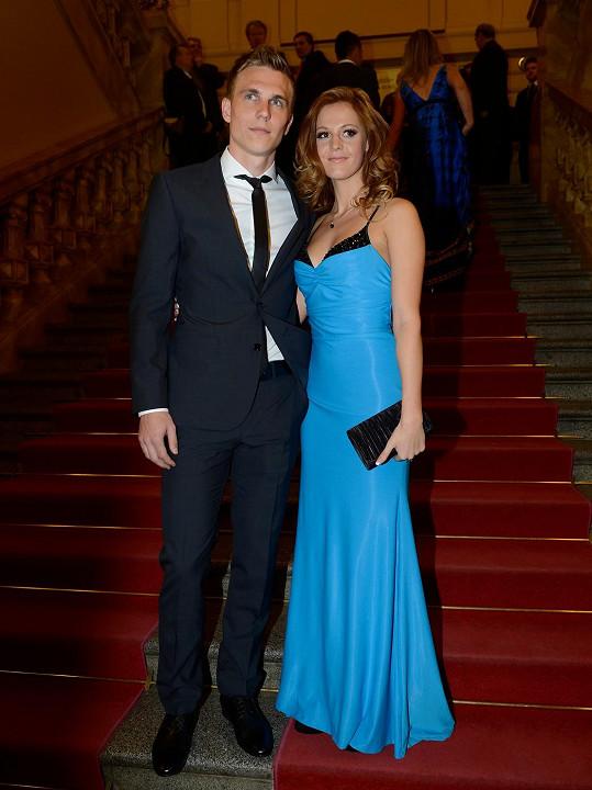 Bořek Dočkal s manželkou Kamilou