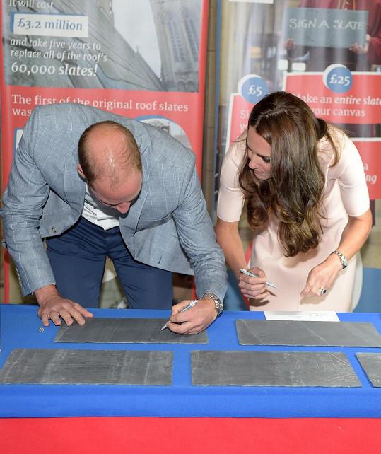 Princ William a jeho žena podpořili projekt na renovaci katedrály.