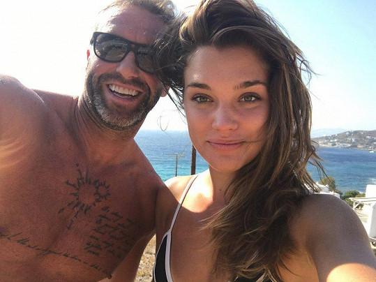 Petr Nedvěd s přítelkyní Nicole