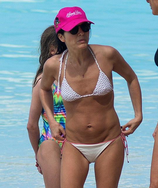 Andrea Corr na dovolené v Karibiku