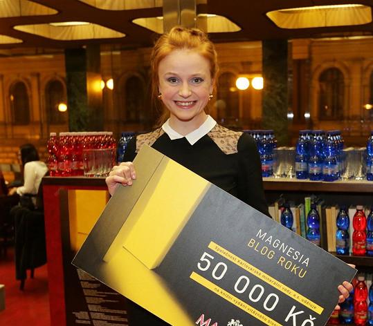 Marie Doležalová získala cenu za blog roku.