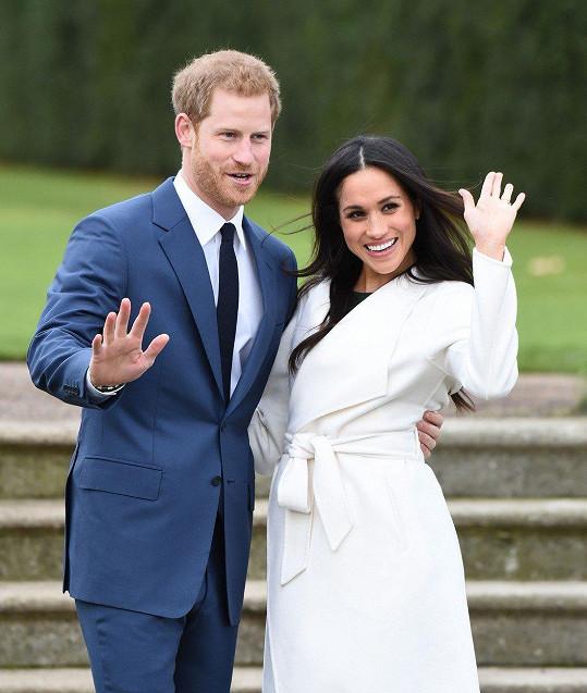 Snoubenci princ Harry a herečka Meghan Markle. Svatba bude na jaře.