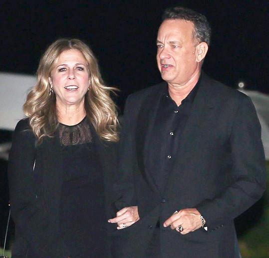 Tom Hanks s druhou manželkou Ritou Wilson