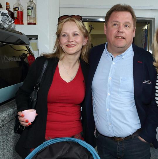 Kopta s manželkou Simonou Vrbickou