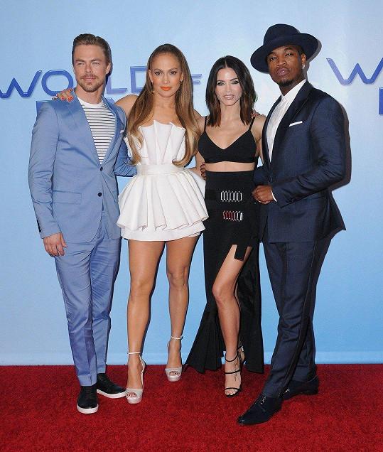 Porotci World of Dance - Derek Hough, Jennifer Lopez, Jenna Dewan Tatum a Ne-Yo