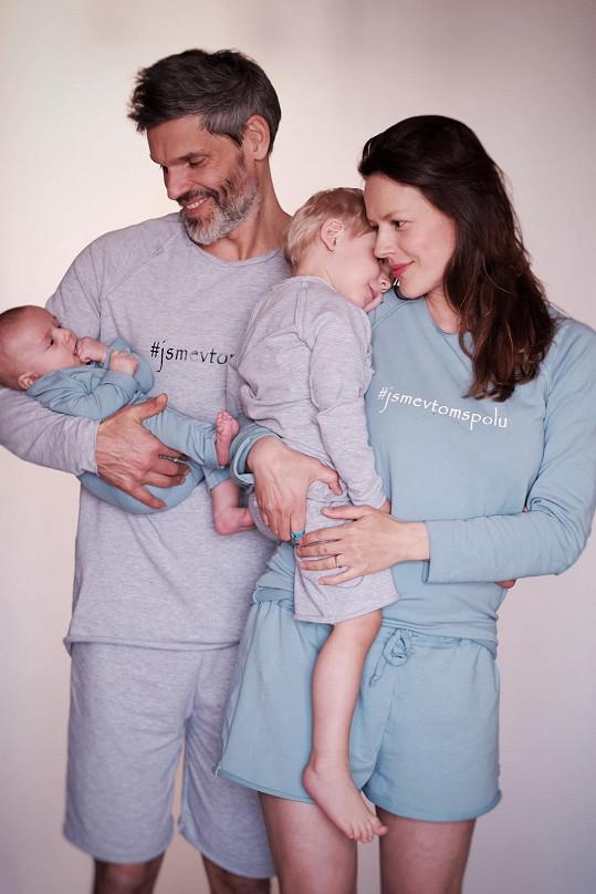 S manželem a dětmi