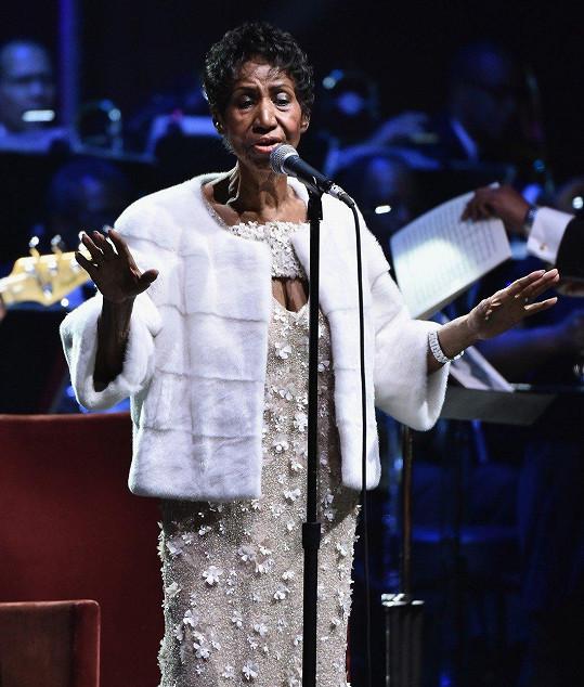 Aretha Franklin na posledním koncertě v listopadu roku 2017
