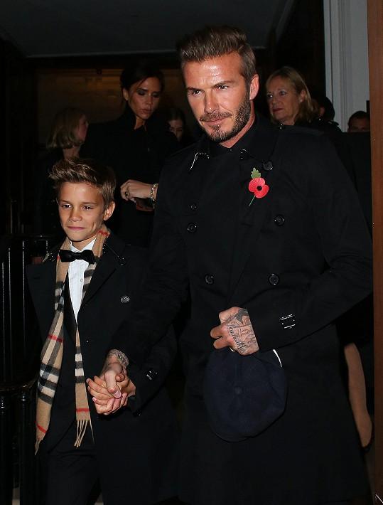 Módního gurua Davida Beckhama předstihl syn Romeo...