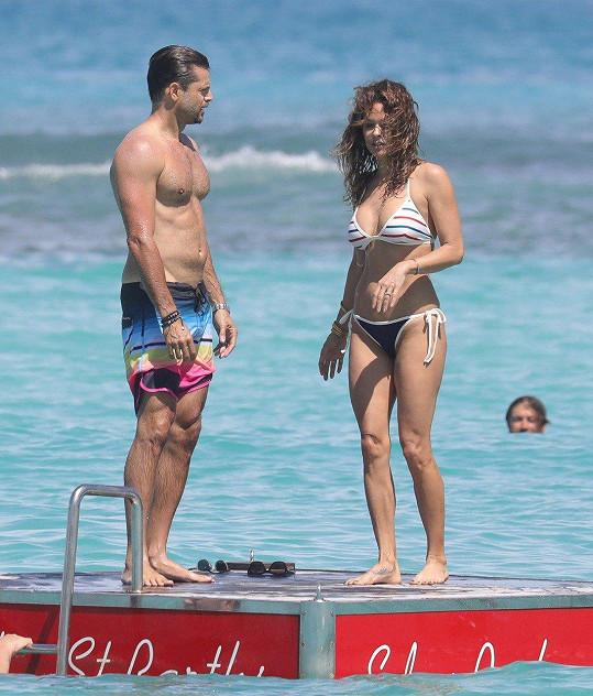 Loni si spolu užívali v Karibiku.