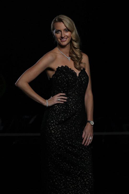Petra se stala nejlepší českou tenistkou a odnesla si cenu Zlatý kanár. Vypadala skvěle.
