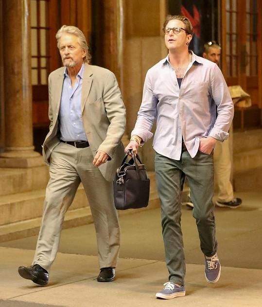 Slavný herec se synem Cameronem