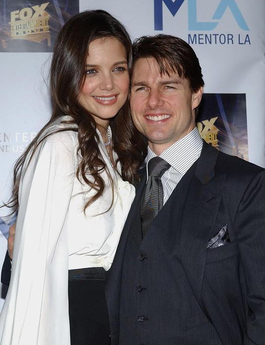 Katie Holmes s exmanželem Tomem Cruisem