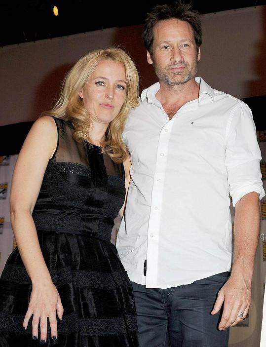 Anderson a Duchovnyho proslavil seriál Akta X.