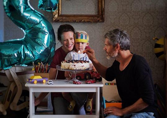 S manželem Mikolášem Růžičkou před týdnem oslavili druhé narozeniny syna Tobiáše.