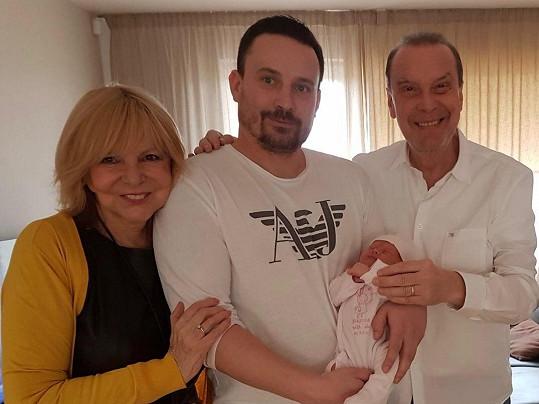 Zagorová s Margitou viděli miminko poprvé na Bílou sobotu.