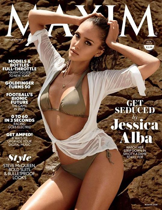 Jessica Alba na obálce zářijového Maximu