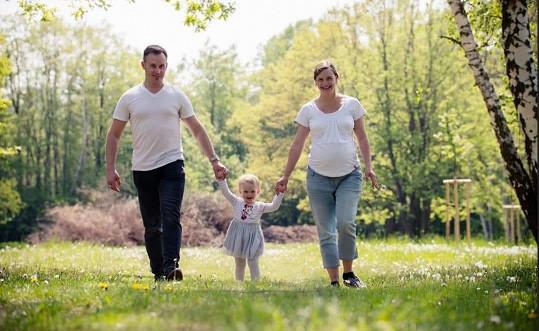 Tereza s manželem Janem a dcerou Emičkou