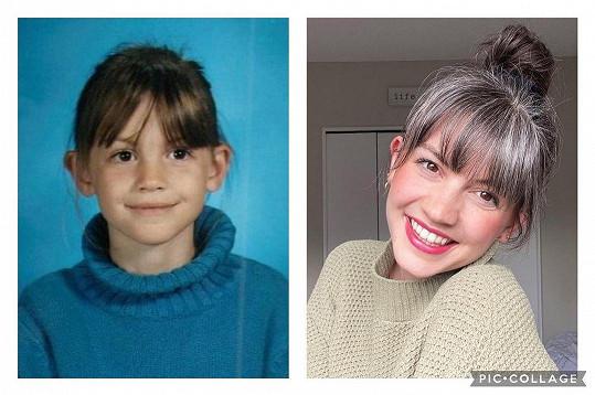 Lauren Midgley začala šedivět už jako dvanáctiletá. Dnes je na barvu svých vlasů pyšná.