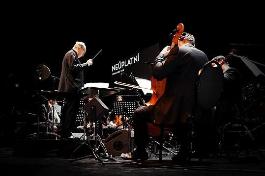 Ennio Moriccone na jednom z pražských koncertů