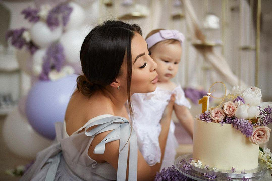 Monika s dcerou Rumií
