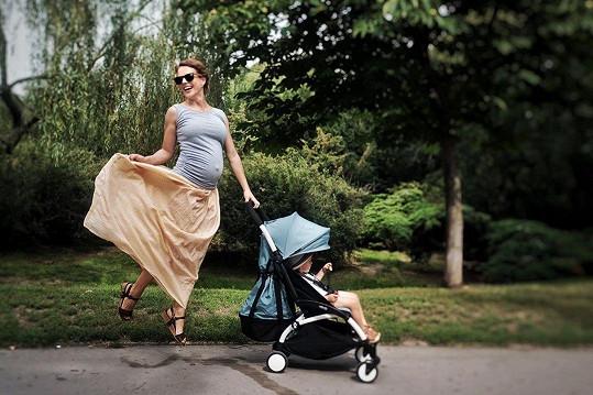 Andrea Růžičková ukázala, jak si těhotenství užívá.