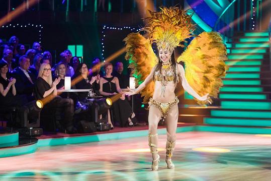 Tohle je jednoznačně nejúspornější kostým osmé řady StarDance, tančila v něm Veronika Lálová.