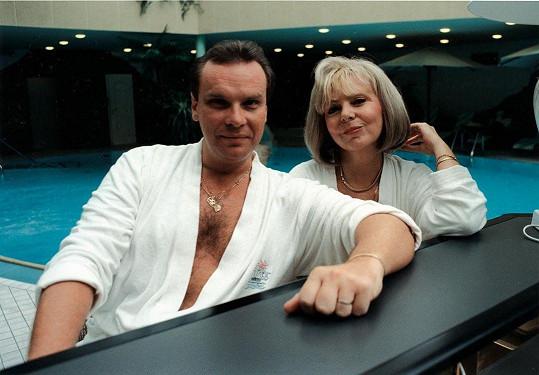 Starší snímek s manželem Štefanem Margitou