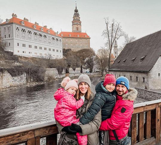 S rodinkou navštívili i Český Krumlov.