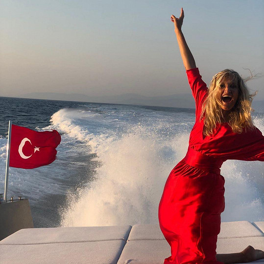 Tereza Maxová na dovolené v Turecku