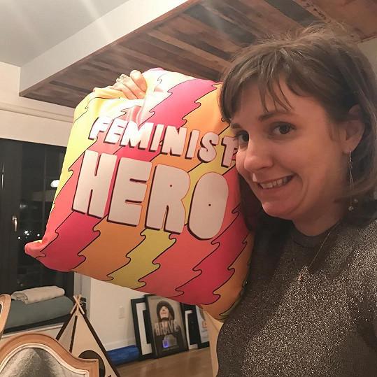 Lena Dunham je hrdou feministkou.