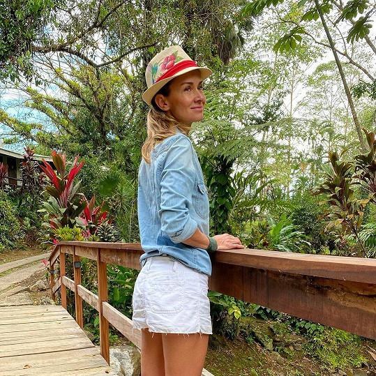 Lucie vyrazila do Kostariky.