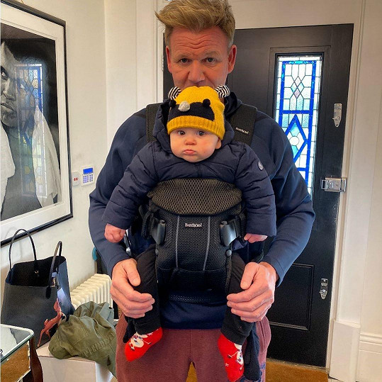 Ramsay se synem Oscarem