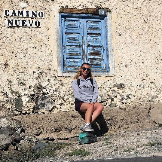 Alice Bendová během dovolené vyrážela na dlouhé výlety.