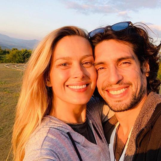 Modelka s manželem Benjaminem Larretchem
