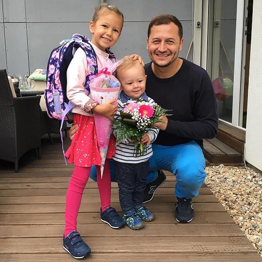 Také z dcery Vojtěcha Bernatského už je prvňačka.