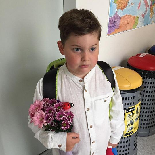 Do 1. třídy letos nastoupil i syn Ornelly Koktové Quentin.