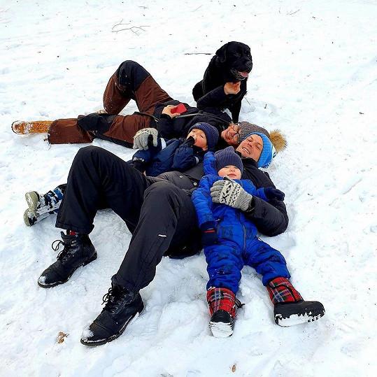 Rodinka na horách