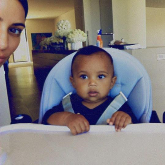 Kim Kardashian se svým Saintem