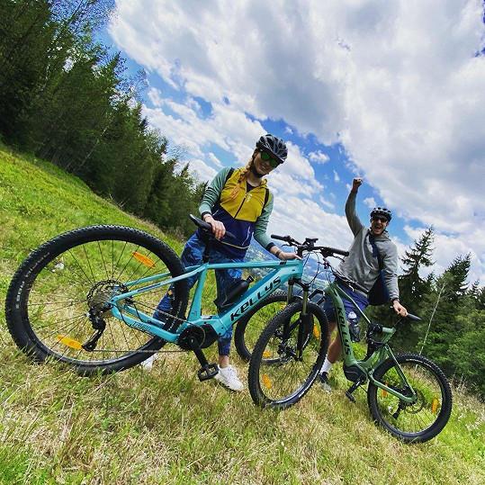 Vyrazili na cyklovýlet do Rokytnice nad Jizerou.