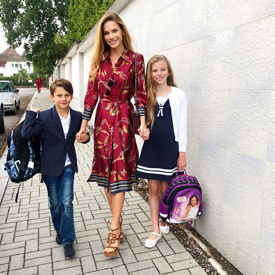 Pro Andreu Verešovou je nástup do školy už každoroční rutinou.