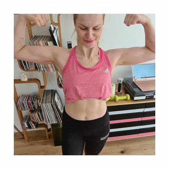 Iva Pazderková touží po úspěchu mezi fitnesskami.