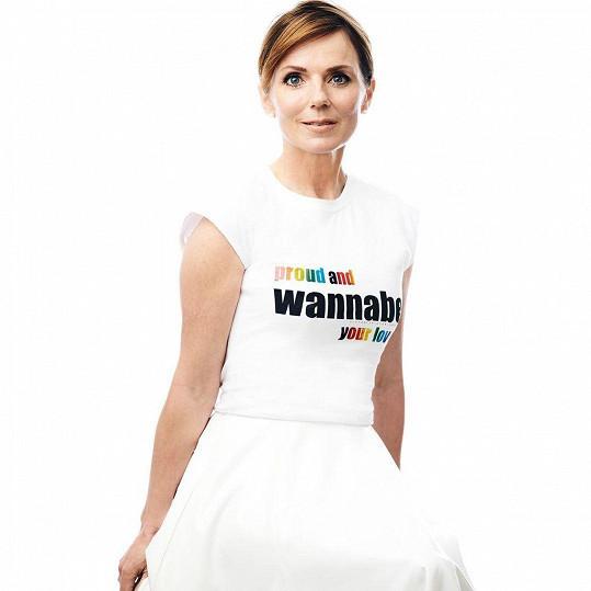 Tričko je spojené s písní Wannabe od Spice Girls.