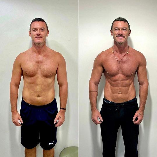 Luke Evans ukázal proměnu svého těla za posledních 8 měsíců.