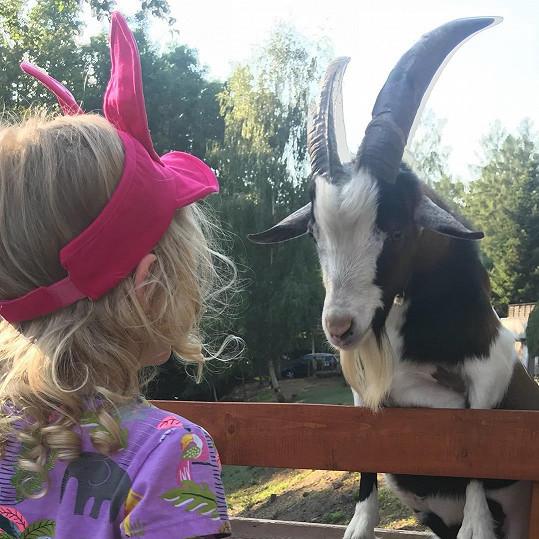 Maruška si našla nového kamaráda.