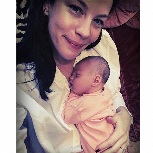 Liv Tyler s dcerkou Lulou