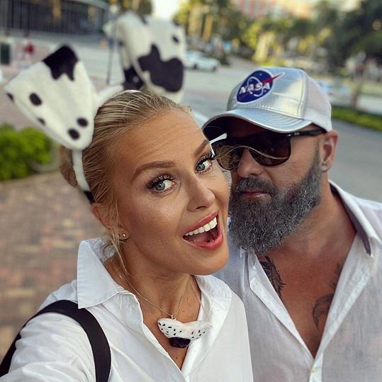 Simona Krainová s manželem Karlem Vágnerem