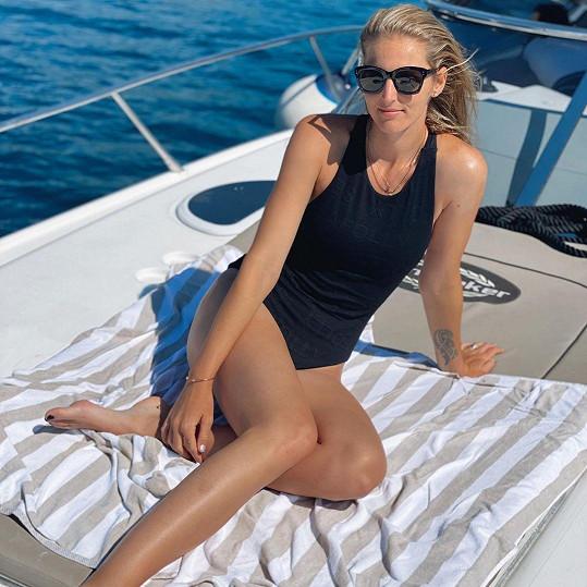 Kristýna Plíšková si užívá dovolenou v Chorvatsku.