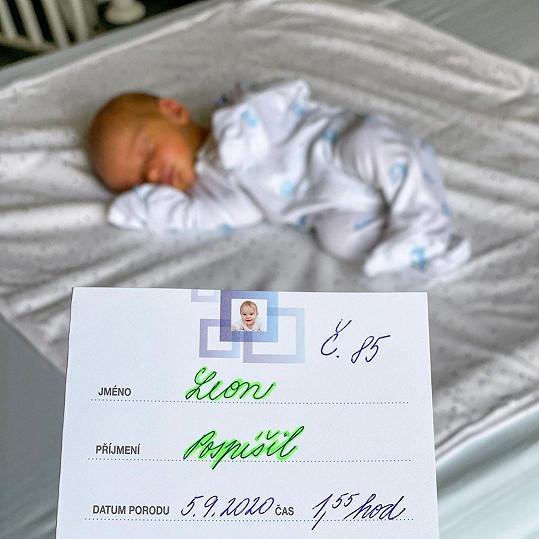 Leon Pospíšil se narodil první zářijovou sobotu.