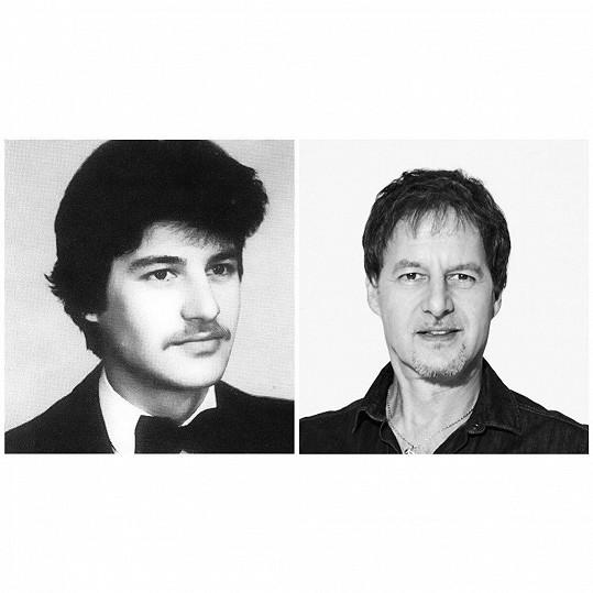 Pavol Habera na fotce z mládí a dnes