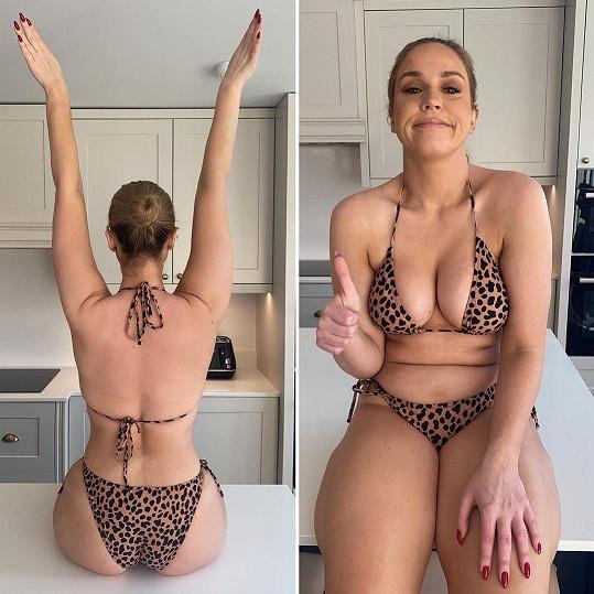 Vicky Pattison se nebojí ukázat své tělo tak, jak reálně vypadá. Bez filtrů a úprav.